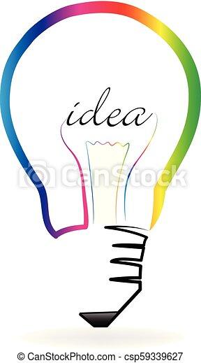 lätt, vektor, idé, lök, skapande - csp59339627