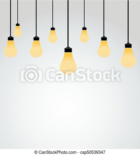 lätta glödlampor - csp50539347
