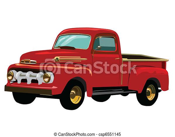 lastbil, röd - csp6551145
