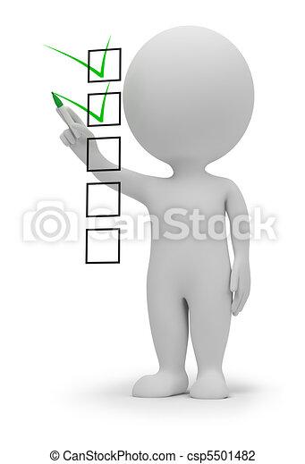 liten, checklista, 3, -, folk - csp5501482