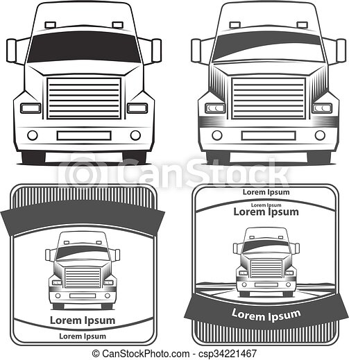 logo, lastbil, transport - csp34221467