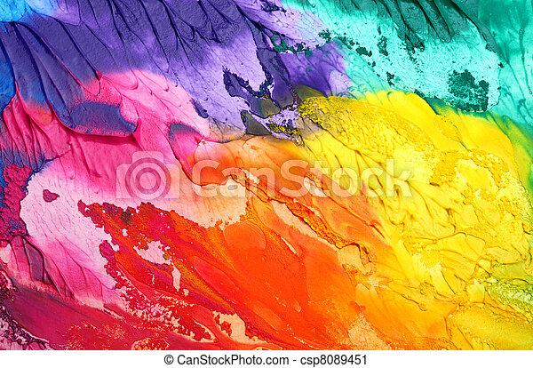 målad, abstrakt, akryl, bakgrund - csp8089451