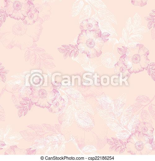 mönster, blomningen, briar, seamless - csp22186254