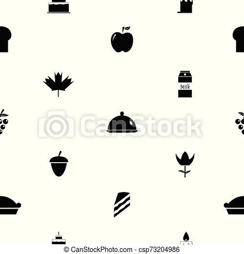 mönster, icon., tacksägelse, bakgrund, seamless - csp73204986