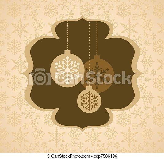 mönster, jul, bakgrund, retro - csp7506136