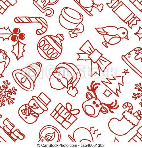 mönster, jul, bakgrund, seamless - csp46061383