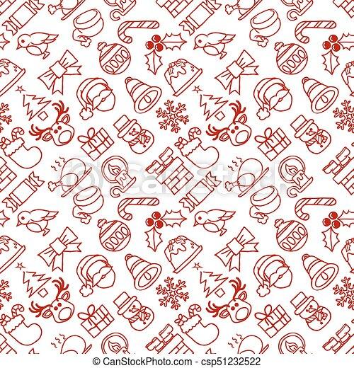 mönster, jul, bakgrund, seamless - csp51232522