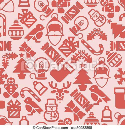 mönster, jul, bakgrund - csp30983898