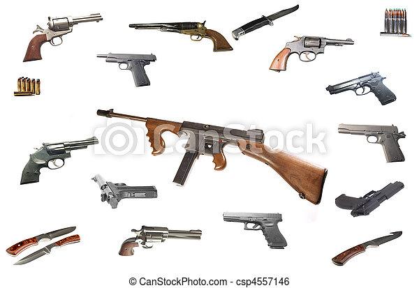 maskin, thompson, gevär - csp4557146