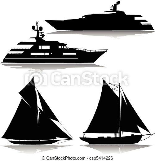 midst, vektor, yacht - csp5414226
