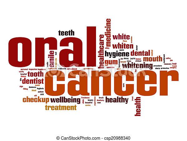 muntlig, ord, cancer, moln - csp20988340