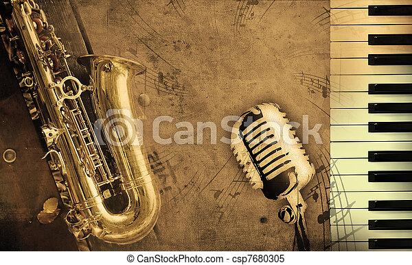 musik, smutsa ner, bakgrund - csp7680305