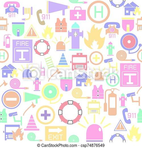 nödläge, seamless, bakgrund, icon., mönster - csp74876549