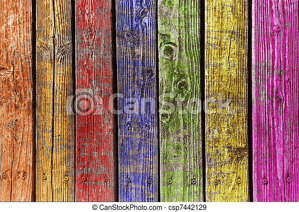 olik, ved, färgrik - csp7442129