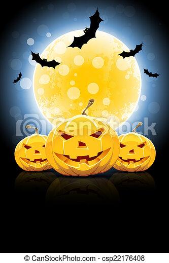 parti, halloween, bakgrund - csp22176408