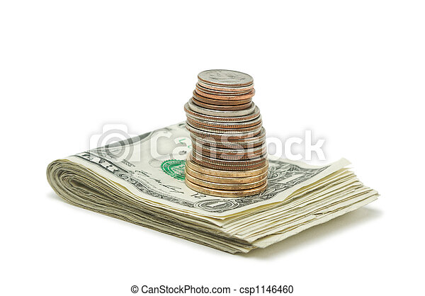 pengar, mynter, stack, & - csp1146460