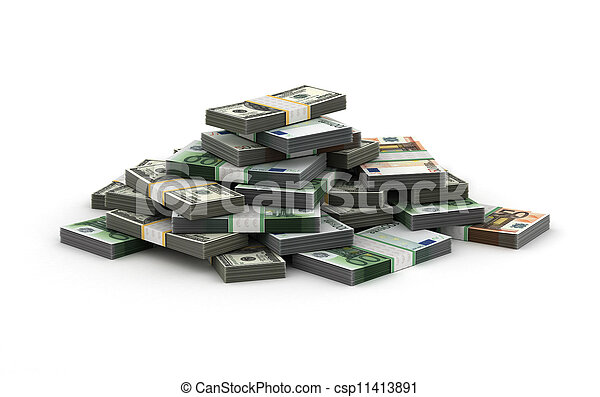 pengar, stack - csp11413891