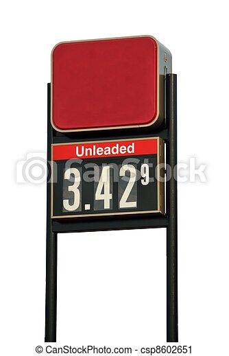 pris, bensin, underteckna - csp8602651