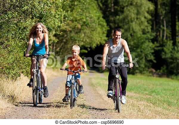 ridande, bicycles, sport, familj - csp5696690