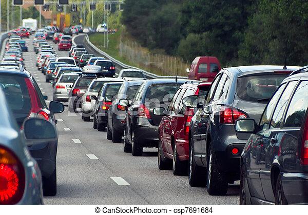 ror, trafikstockning, bilar - csp7691684
