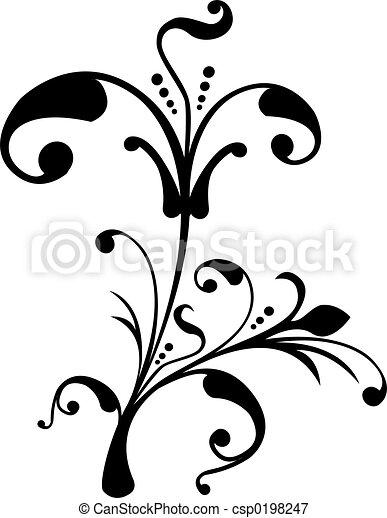rulla, vektor, cartouche, illustration, dekor - csp0198247