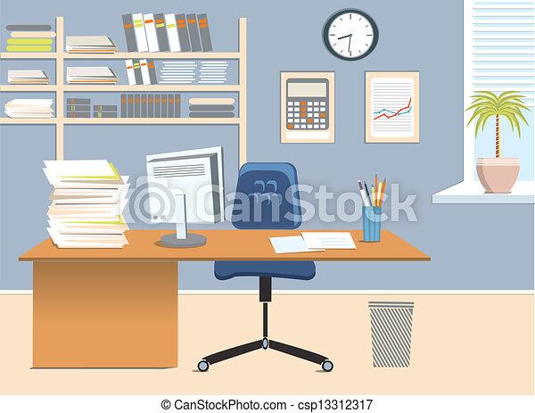 rum, kontor - csp13312317