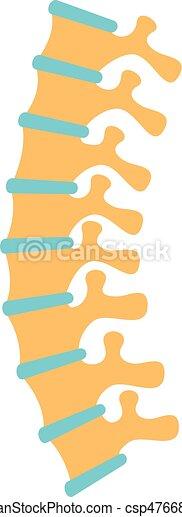rygg, vektor, mänsklig, illustration - csp47668816