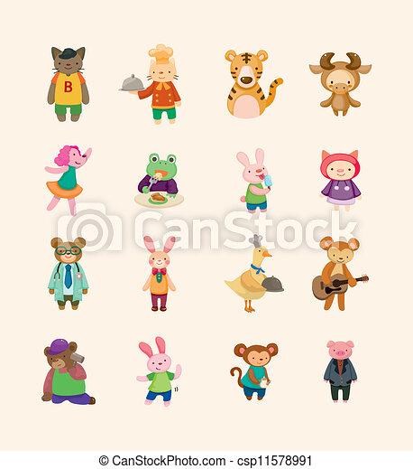 sätta, animal ikon - csp11578991