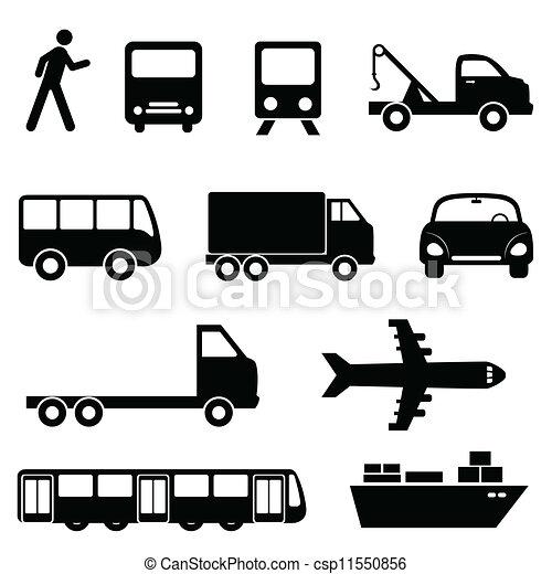 sätta, transport, ikon - csp11550856