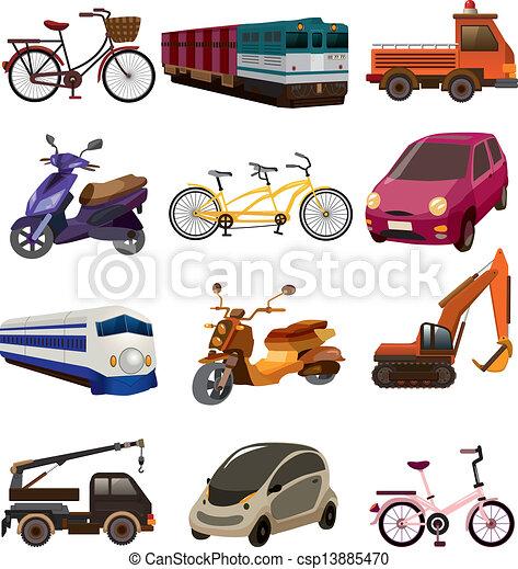 sätta, transport, ikonen - csp13885470