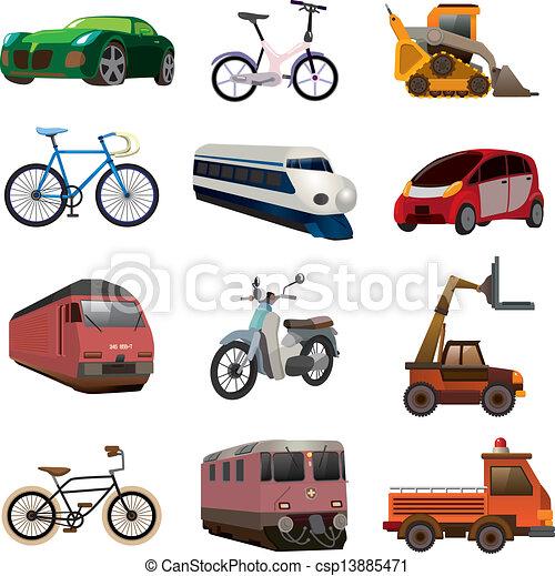 sätta, transport, ikonen - csp13885471