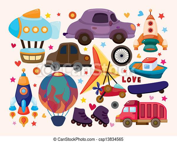 sätta, transport, ikonen - csp13834565