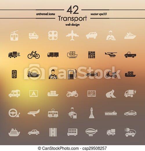 sätta, transport, ikonen - csp29508257