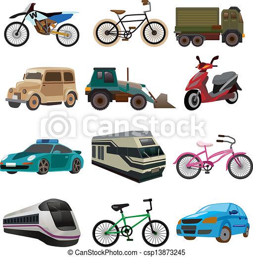sätta, transport, ikonen - csp13873245