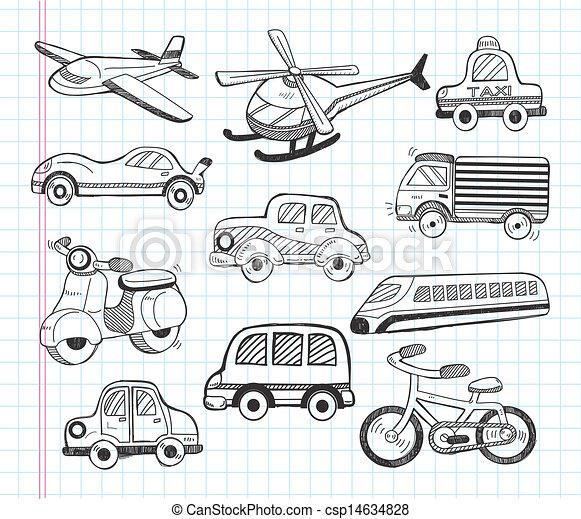 sätta, transport, ikonen - csp14634828