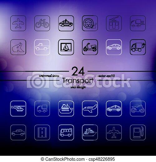 sätta, transport, ikonen - csp48226895