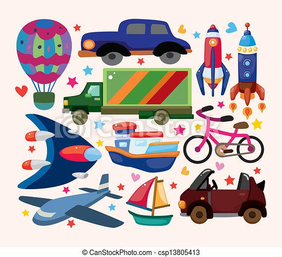sätta, transport, ikonen - csp13805413