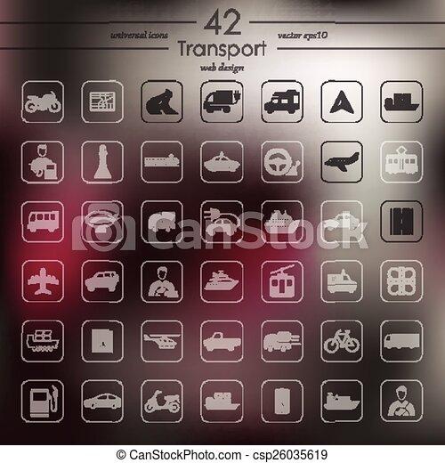 sätta, transport, ikonen - csp26035619