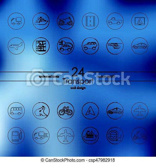 sätta, transport, ikonen - csp47982918