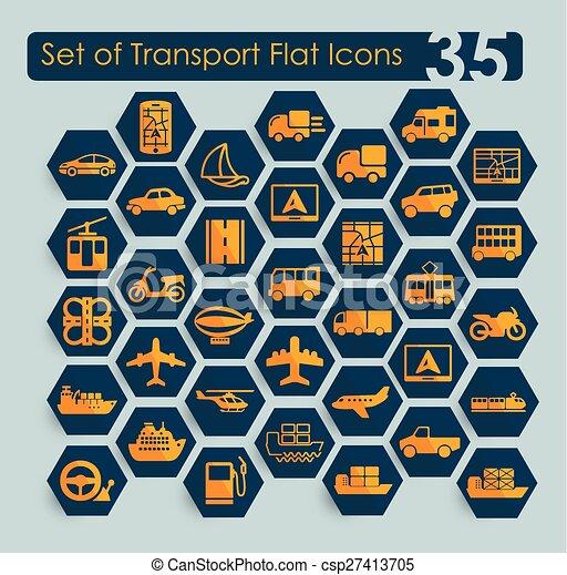sätta, transport, ikonen - csp27413705