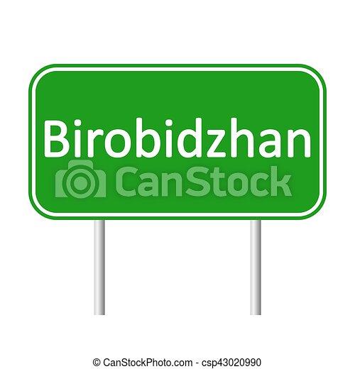 skylt., birobidzhan, väg - csp43020990