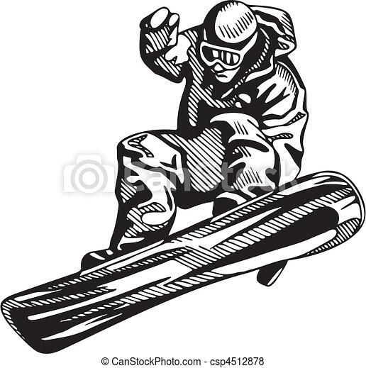 snowboarding, skidåkning, & - csp4512878