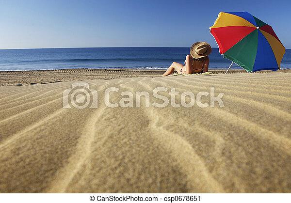 sommar, strand - csp0678651