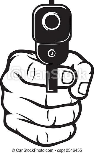 spetsig, hand gevär, (pistol) - csp12546455