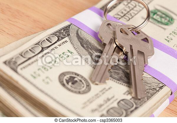 stämm, pengar, stack, hus - csp3365003
