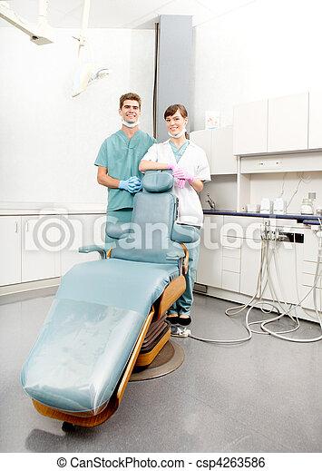 stående, dental, klinik - csp4263586