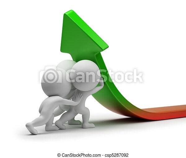 statistik, folk, -, förbättring, liten, 3 - csp5287092