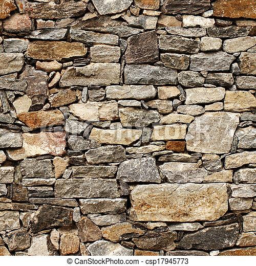 sten spärrar, medeltida, vägg, seamless, struktur - csp17945773