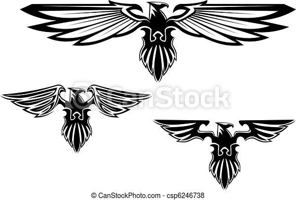 symboler, heraldik, örn, tatuera - csp6246738