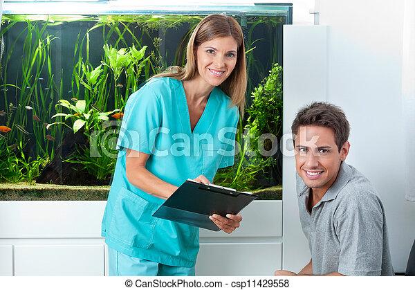 tand patient, klinik, läkare - csp11429558